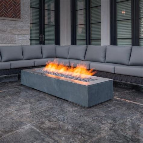 Linear Outdoor Fire Pit Robata Natural Gas Or Propane Paloform Pit