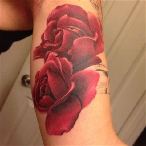 flower petal tattoos petal roses on forearm could almost pass as