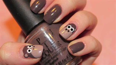 new year nail 2016 monkey tutorial monkey nails