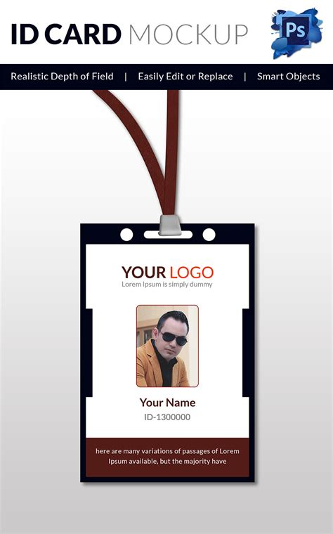 id template free 18 id card templates free psd documents free