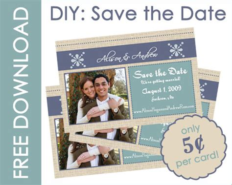 free diy save the date cards templates save the date postcards diy templates diy do it your self