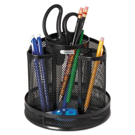 wire mesh desk accessories rolodex 1773083 wire mesh spinning desk sorter black