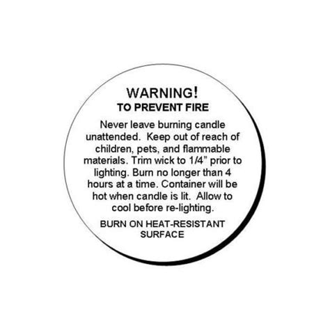 printable warning stickers details about 48 generic candle warning round glossy