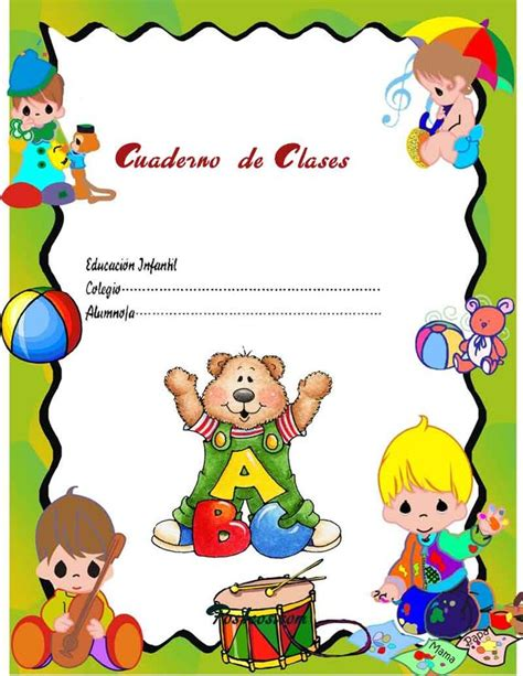 imagenes infantiles escolares a color caratulas color cuadernos escolares infantiles dibujos