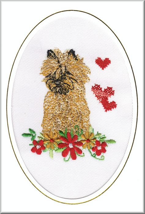 Embroidered Birthday Card Cairn Terrier Birthday Card Embroidered By Dogmania 6 X