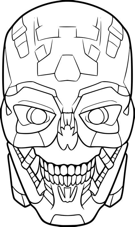 Coloriage T 234 Te De Terminator 224 Imprimer