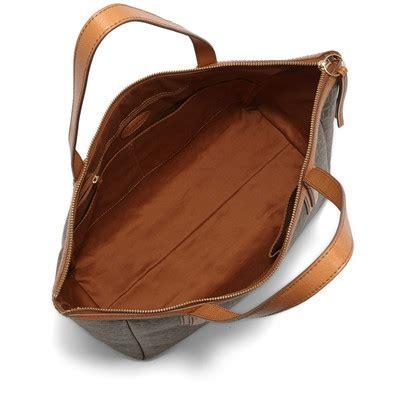 Fossil Sydney Shopper Multi Brown Bag Ori fossil sydney shopper multi brown