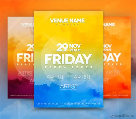 18 free photoshop psd club poster and flyer