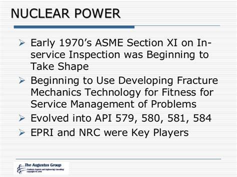 asme section xi managing your onstream inspection program and external vs