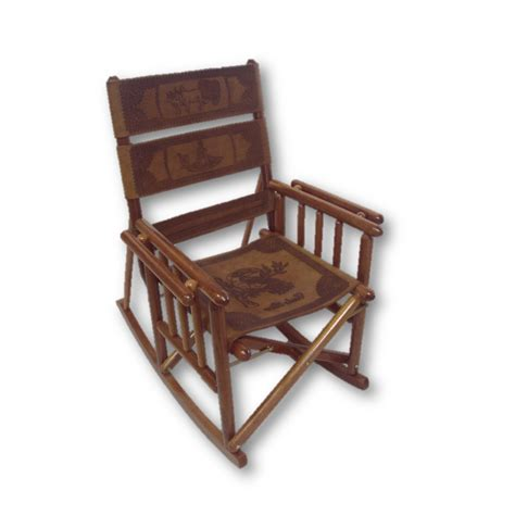 low back carved rocking chair souvenirs costa rica