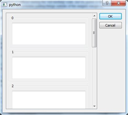 qt vertical layout scroll python how to associate a horizontal scrollbar to