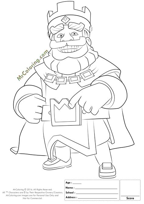 *Info* File Name : Blue King Clash Royale Coloring Pages