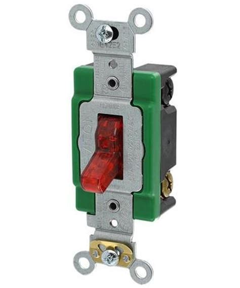amp  volt toggle pilot light illuminated