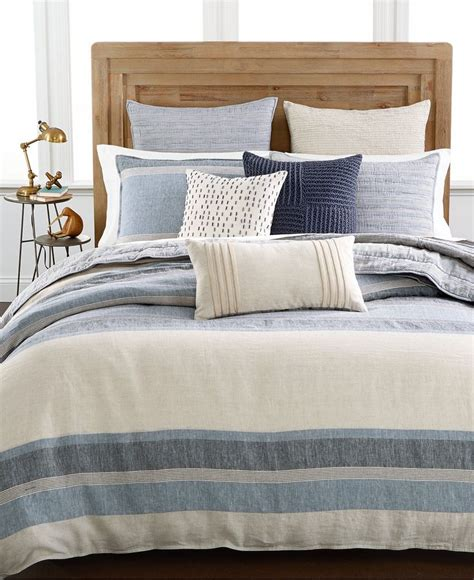 macys bed comforters hotel collection linen stripe duvet covers only at macy s