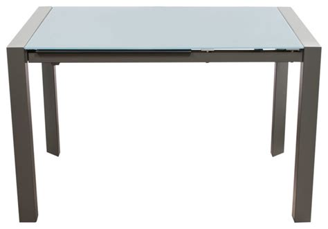 Dining Table Metal Frame Carbon Glass Top Extension Dining Table With Metal Frame