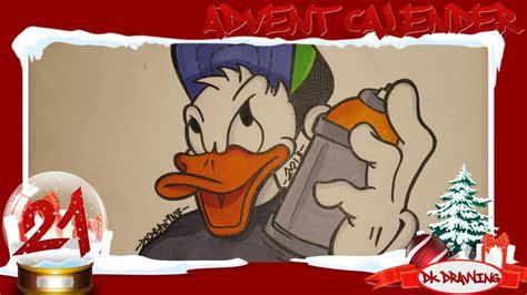 graffiti advent calender  drawing donald duck
