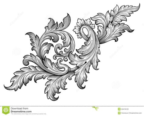 baroque pattern frame vector vintage baroque frame scroll pattern stock images