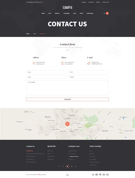 themeforest contact canifa the fashion woocommerce wordpress theme by