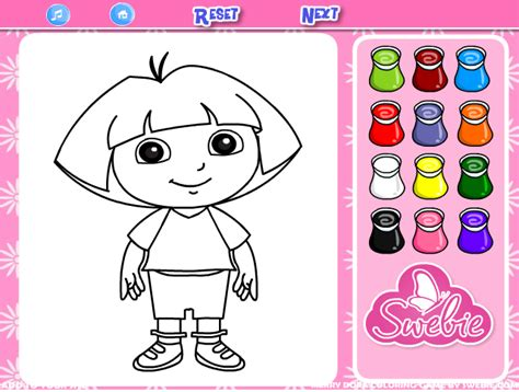 dora explorer coloring pages games my little pony coloring pages games