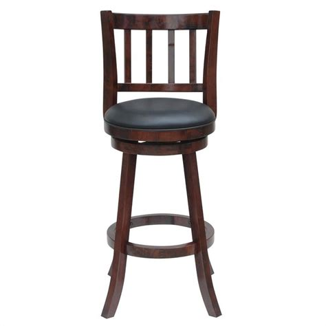 Cherry Stools by 24 Quot Swivel Counter Stool In Cherry Finish 60924