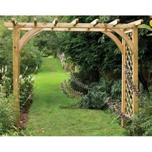 Pergolas And Arches For Gardens by Forest Garden Large Ultima Pergola Arch Trellis Side