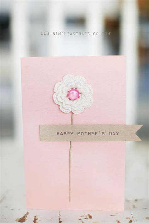 Simple Handmade Mothers Day Cards - simple handmade s day card ideas simple as that