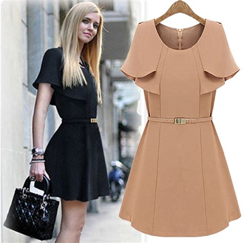 Dress Kerja Stylish New Impor new fashion s formal dress all match casual dress fashion chiffon