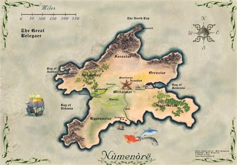 imágenes maps más mapa de numenor
