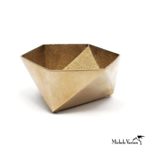Origami Bowl - brass origami bowl small gold michele varian shop