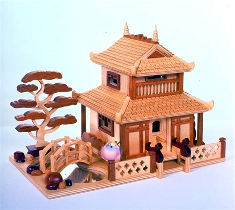house woodwork designs pagoda birdhouse woodworking plan