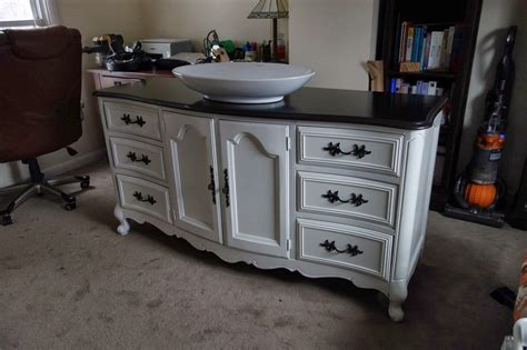 Dresser Vanity For Bathroom by Rustyfarmhouse Diy Repurposing A Buffet Or Dresser As A
