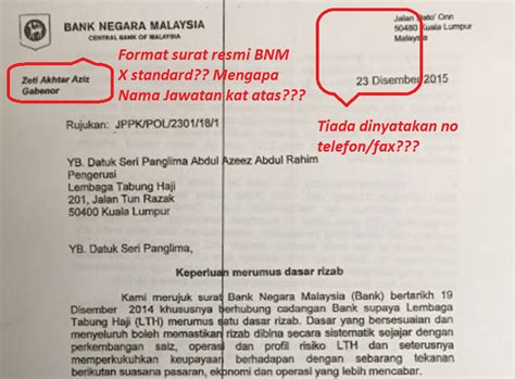 Bank Negara Letter To Tabung Haji Bumiyang Surat Amaran Gabenor Bank Negara Kepada Pengerusi Tabung Haji Palsu