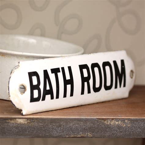 sign for bathroom antique enamel bathroom sign sold