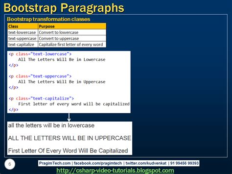 bootstrap tutorial presentation sql server net and c video tutorial bootstrap paragraphs