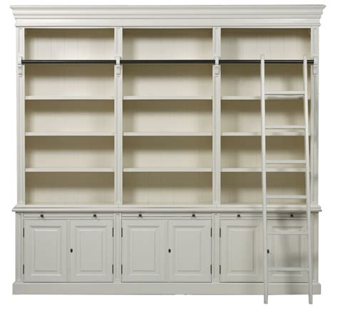 ladder bookcase with bellahouse classic 6 door bookcase with ladder