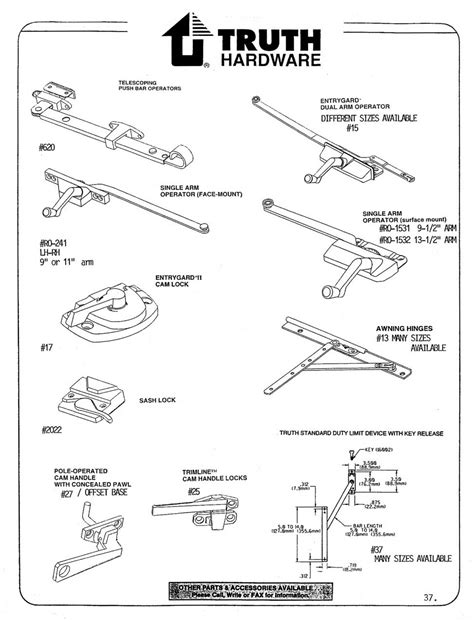 awning window hardware replacement window hardware truth hardware wielhouwer replacement