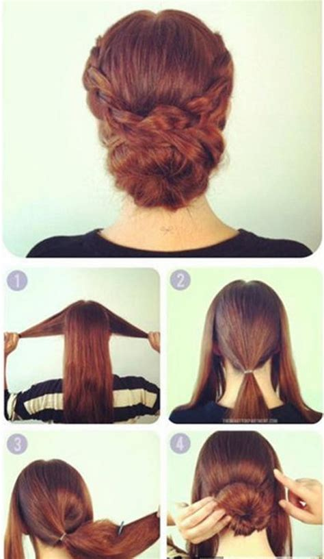 easy updos for short hair step by step simple hairstyles for long hair step by step