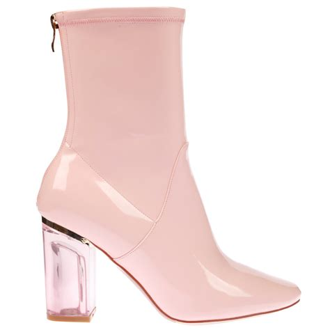 pink ankle boots ankle boots in pink patent with pink heel