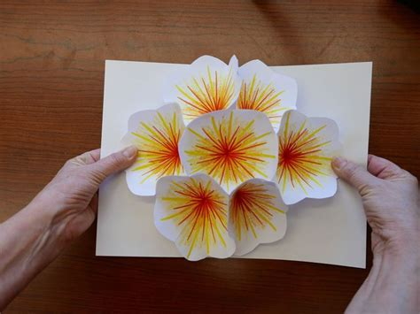 Diy Flower Card Template by Origami Flower Pop Up Card 25 Unique Pop Up Cards Ideas On