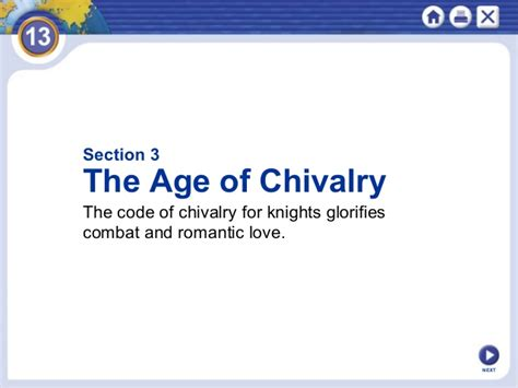 chapter 13 section 3 the age of chivalry chapter 13 ppt