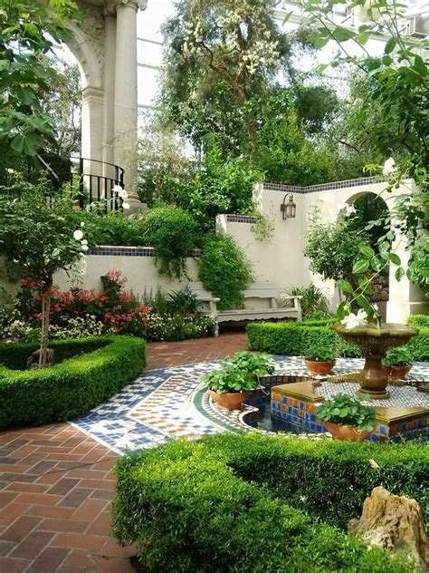 outdoor courtyard beautiful courtyard garden gardening pinterest
