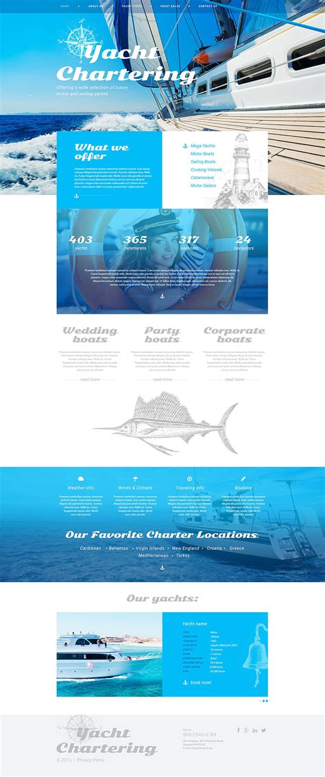 responsive website templates for quiz yachting responsive website template 54961 by wt