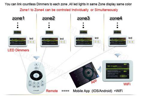 mi light 4 zone mi light rf wireless led dimmer 4 zone remote