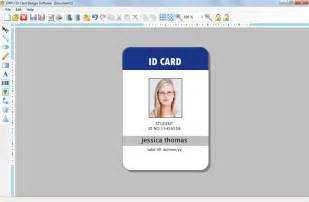 picture id template id card software design student school college employee id