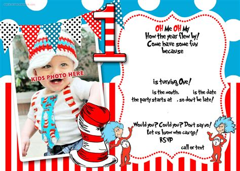 dr seuss birthday card template free printable dr seuss 1st birthday invitation template