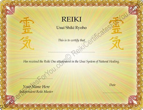 free reiki certificates download joy studio design