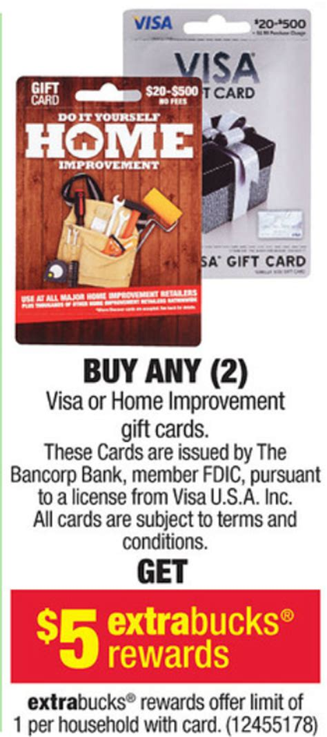Visa Gift Cards At Cvs - cvs buy 2 visa gift cards and get 5 extra bucks dansdeals com