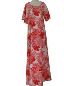 Red hawaiian dress cheap dress image