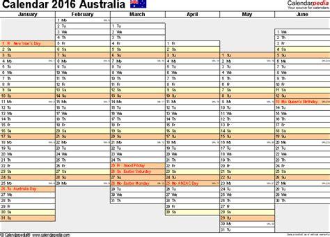 free printable planner 2016 australia australia calendar 2016 free printable pdf templates