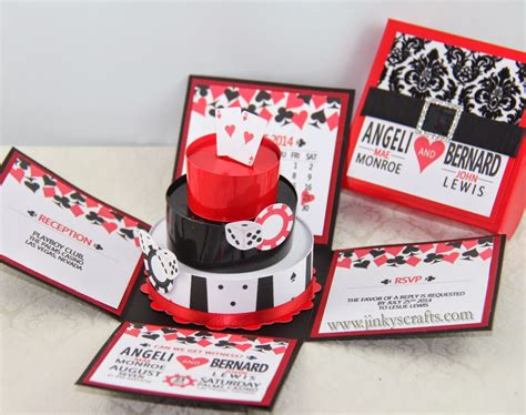 Vegas Themed Wedding Invitations jinky s crafts designs las vegas casino themed wedding